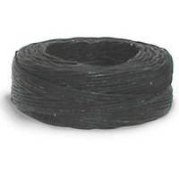 Waxed Linen Thread - Black 25 yds