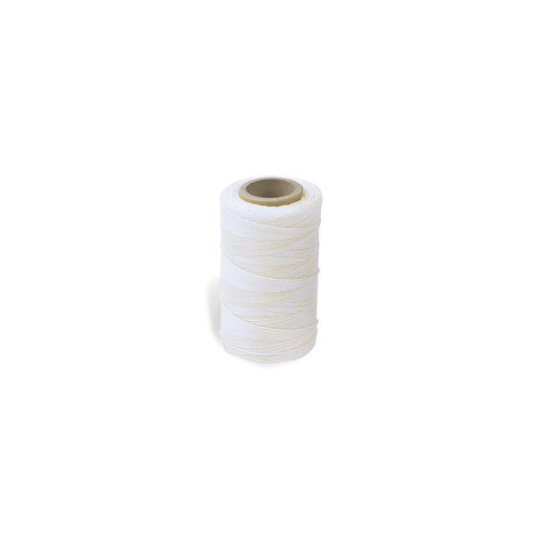 Waxed Nylon Sewing Thread - White (247 metres)